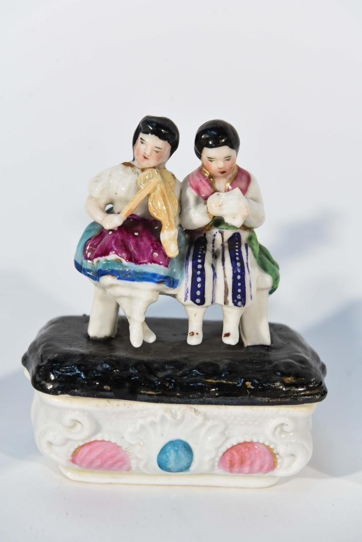 GROUPING OF MINIATURE PORCELAIN FIGURINES - 4