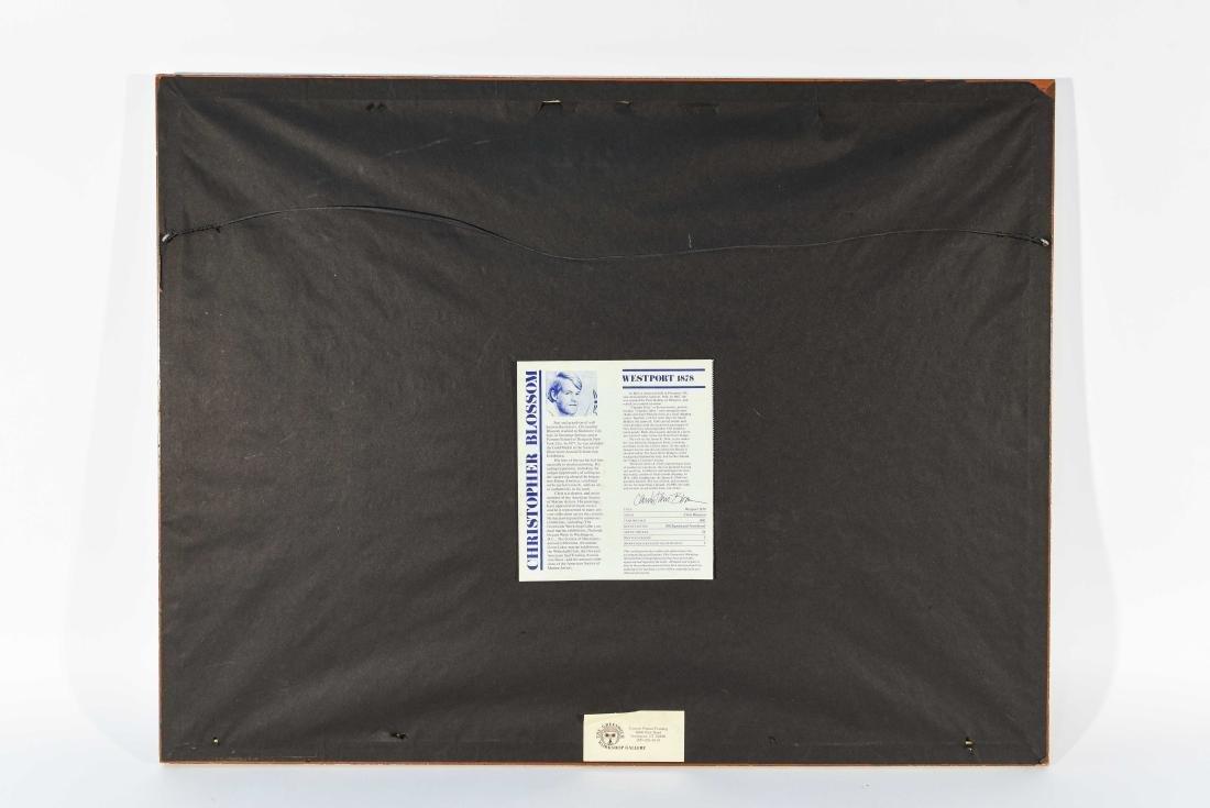 "CHRISTOPHER BLOSSOM ""WESTPORT 1878/ 1981"" PRINT - 10"