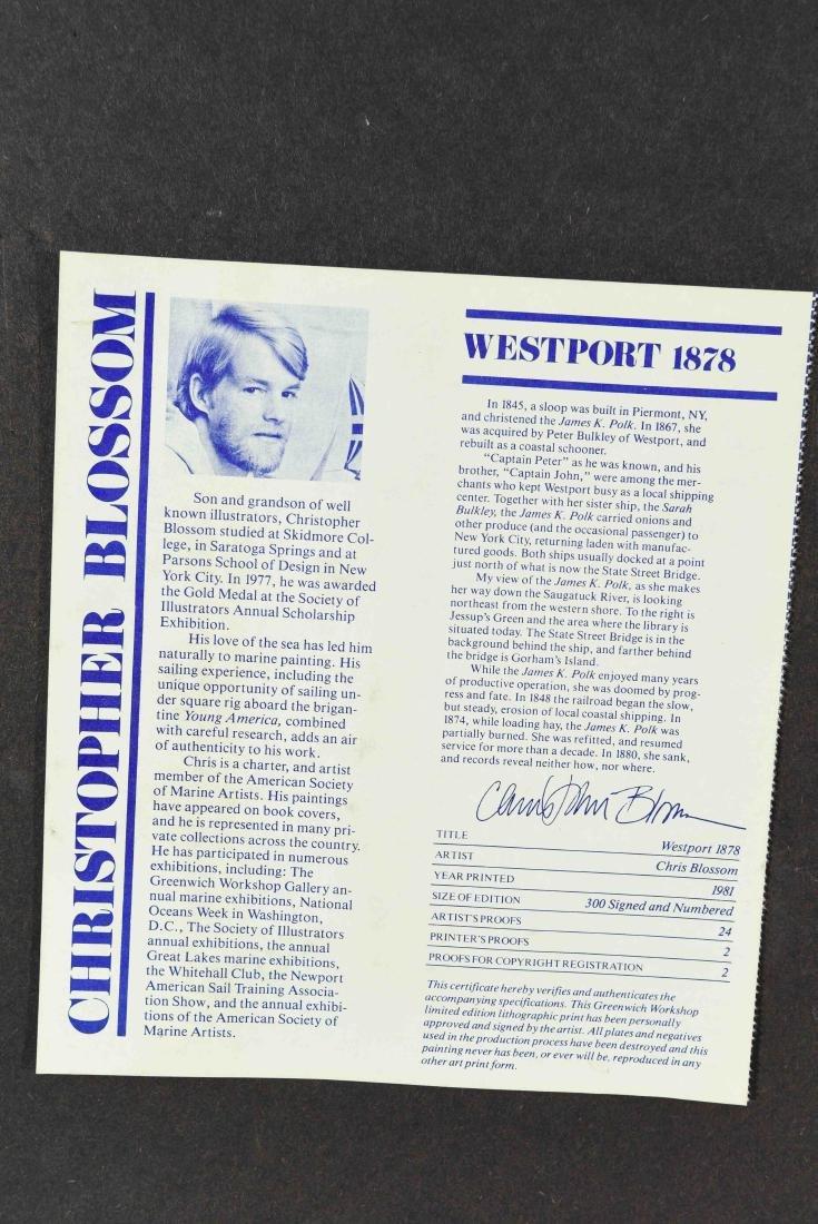 "CHRISTOPHER BLOSSOM ""WESTPORT 1878/ 1981"" PRINT - 11"
