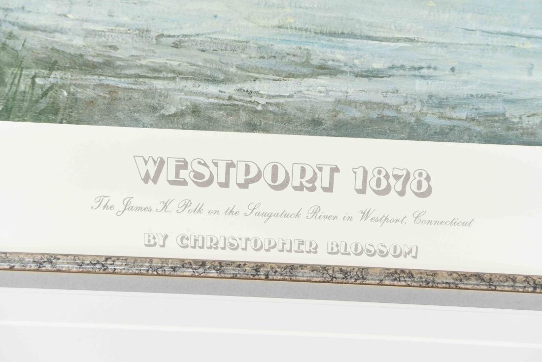 "CHRISTOPHER BLOSSOM ""WESTPORT 1878/ 1981"" PRINT - 3"