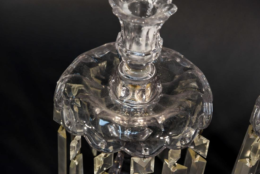 PAIR OF CRYSTAL PRISM CANDLESTICKS - 3