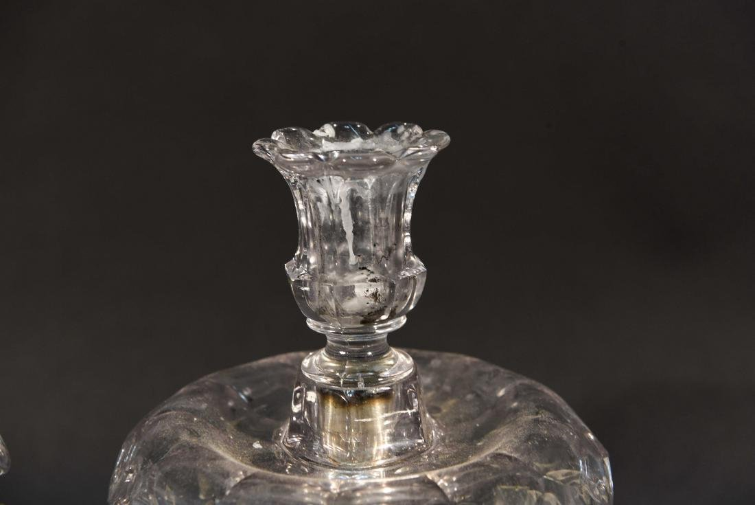 PAIR OF CRYSTAL PRISM CANDLESTICKS - 4