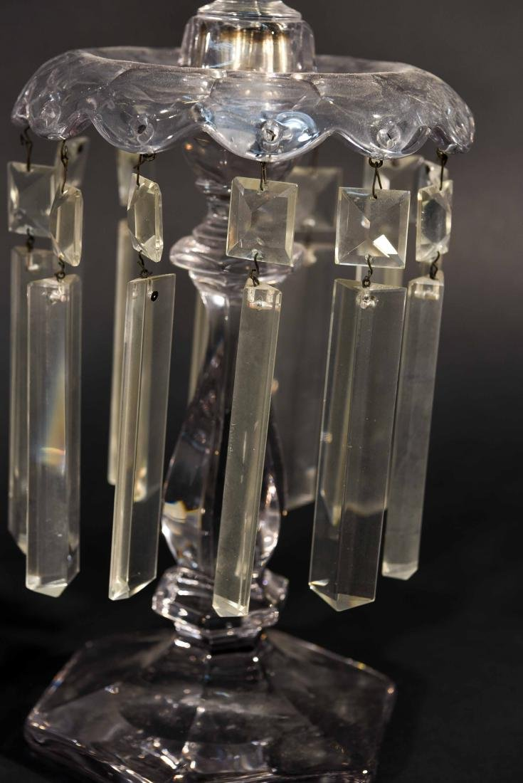 PAIR OF CRYSTAL PRISM CANDLESTICKS - 8