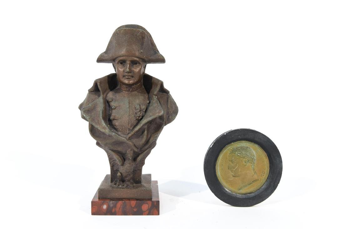 NAPOLEON SCULPTURE AND MEDALLION GROUPING