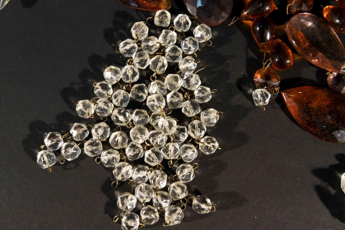 CHANDELIER PARTS CRYSTALS & BEADS GROUPING - 2