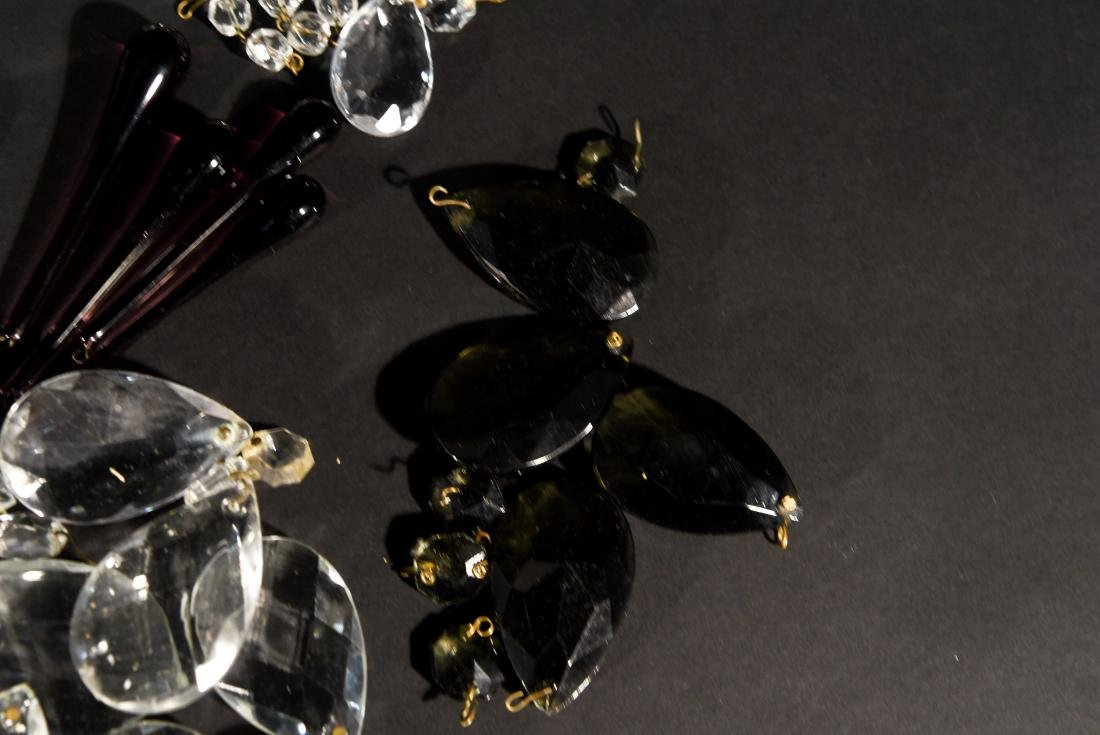 CHANDELIER PARTS CRYSTALS & BEADS GROUPING - 6