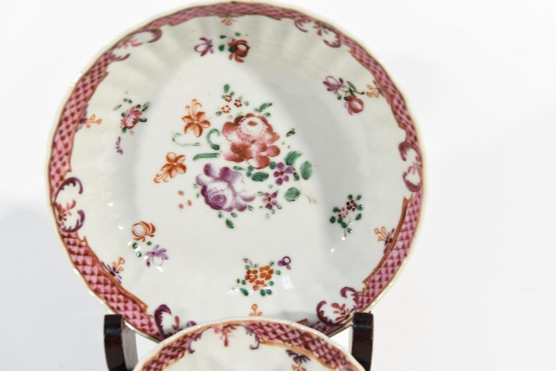 (2) CHINESE EXPORT PORCELAIN CUPS AND SAUCERS - 3