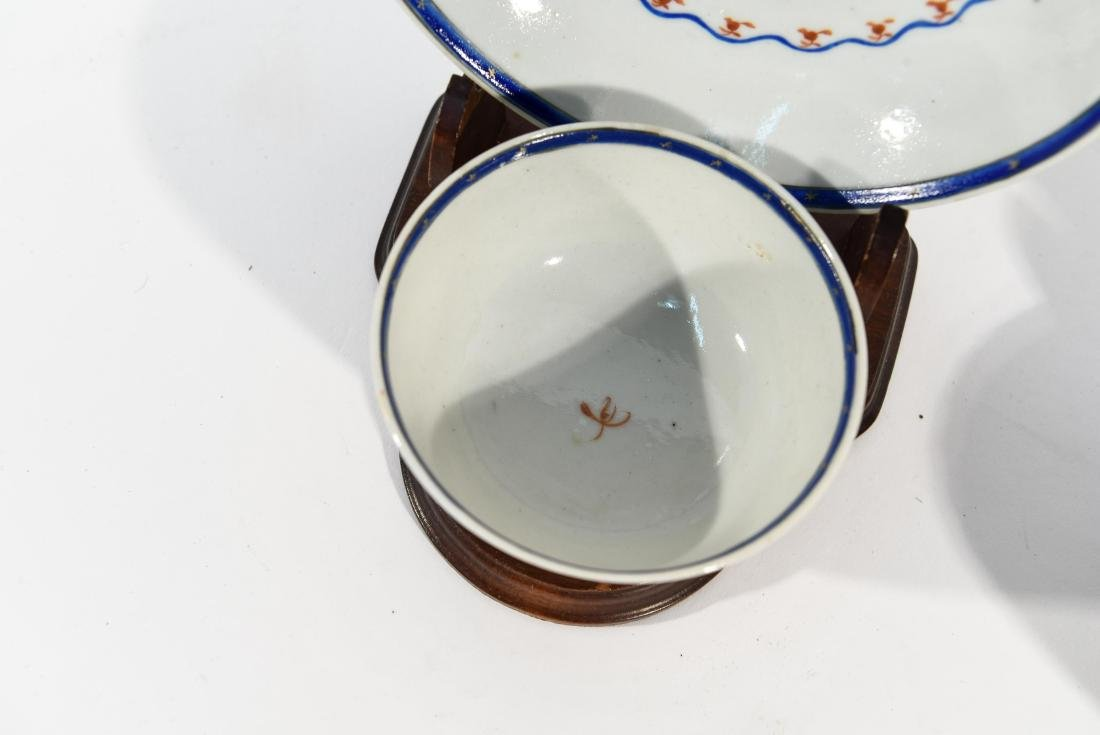 (2) CHINESE EXPORT PORCELAIN CUPS AND SAUCERS - 5