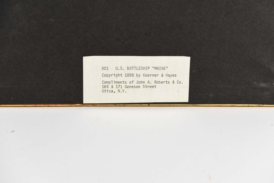 PAIR OF STEAMER BATTLESHIP 1898 PRINTS - 10