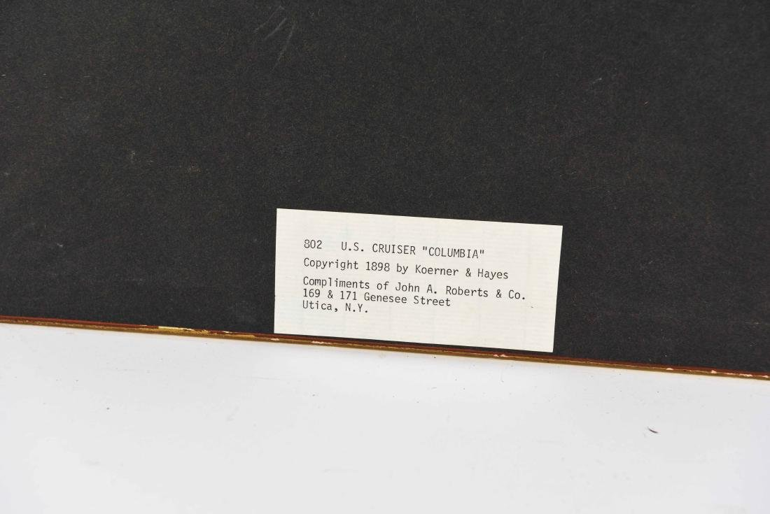PAIR OF STEAMER BATTLESHIP 1898 PRINTS - 11