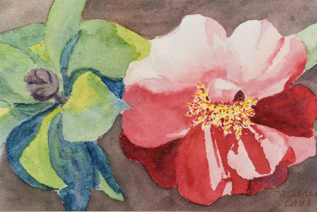 (4) FLORAL WATERCOLORS - 2
