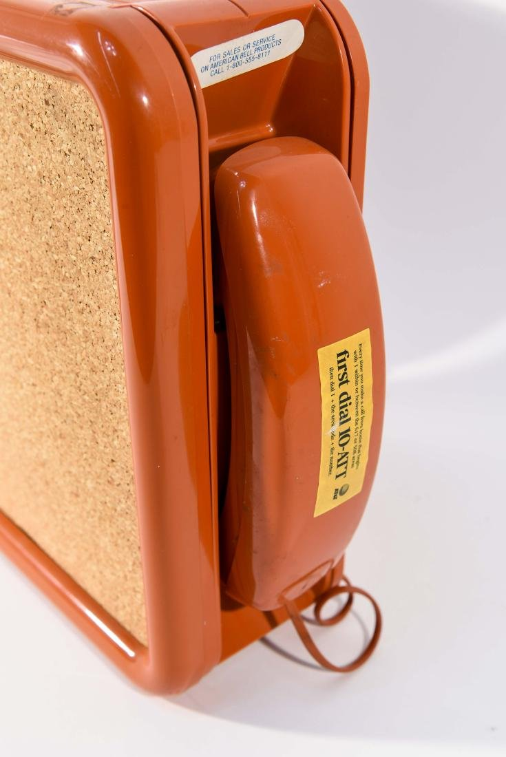 VINTAGE BELL WALL TELEPHONE / CORK BOARD - 3