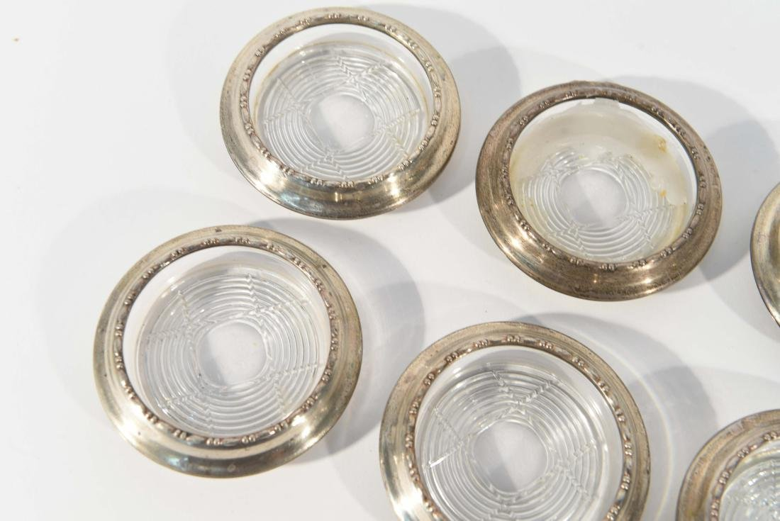 GROUPING OF AMSTON STERLING COASTERS - 6