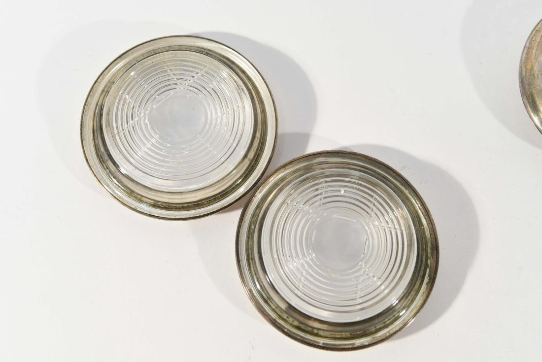 GROUPING OF AMSTON STERLING COASTERS - 8