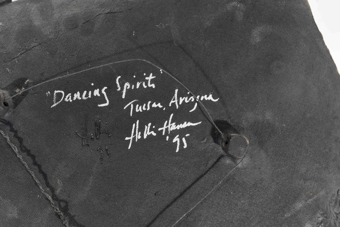 """DANCING SPIRIT"" PAINTED CERAMIC WALL HANGING - 9"