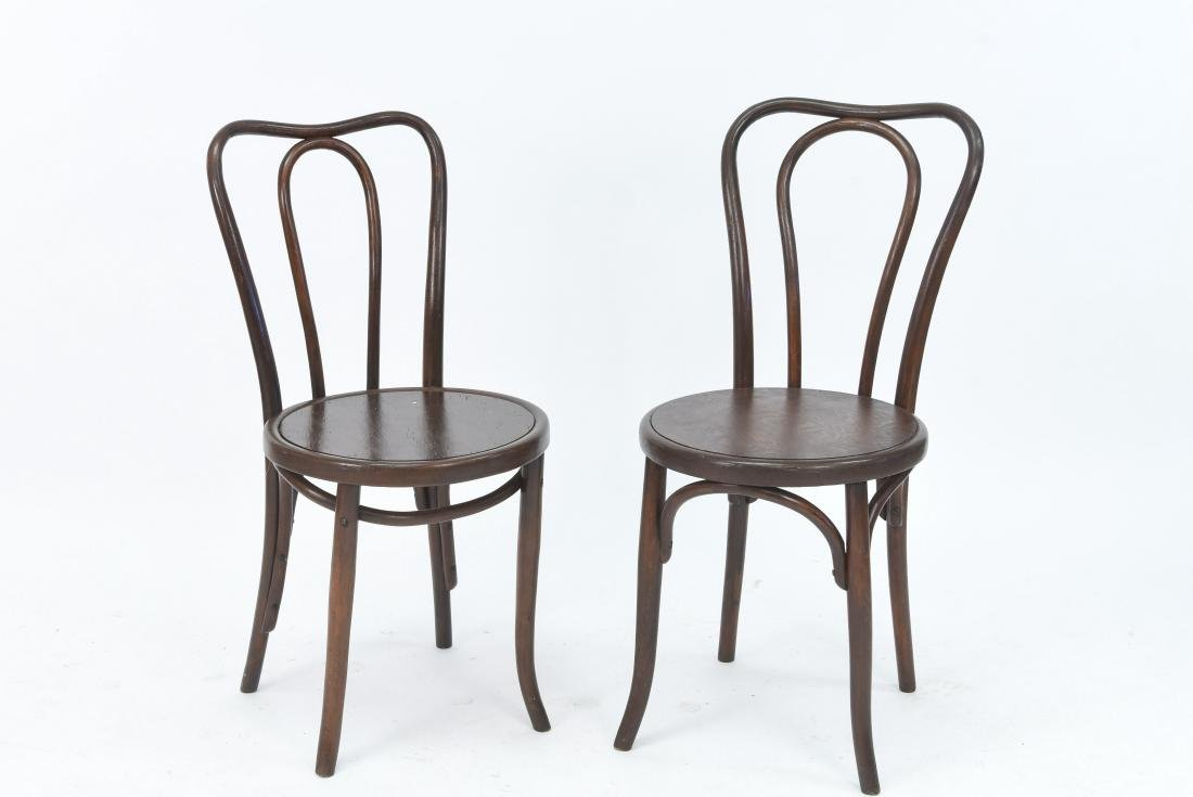 PAIR OF BENTWOOD BISTRO CHAIRS