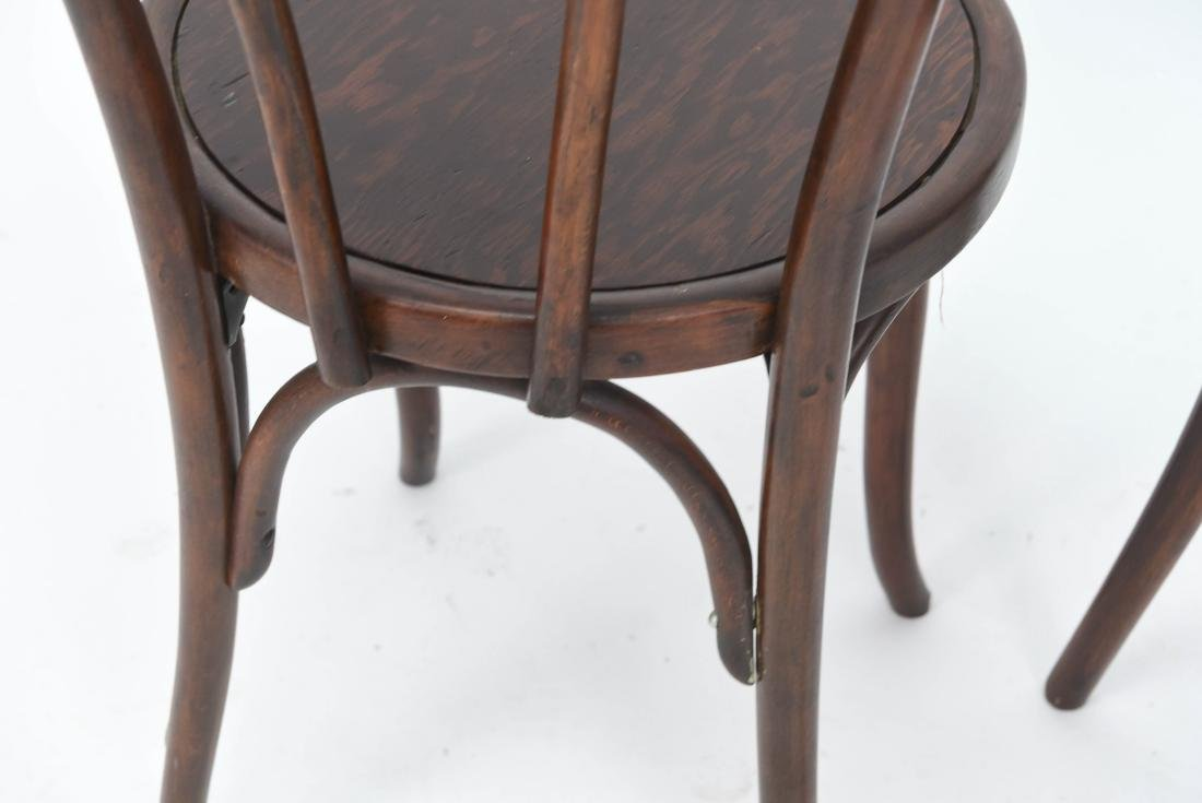 PAIR OF BENTWOOD BISTRO CHAIRS - 8