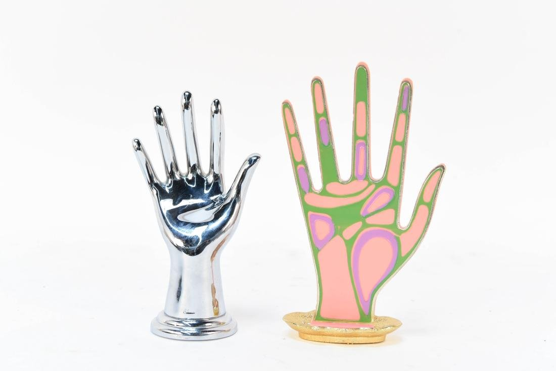 (2) MID CENTURY RING HANDS
