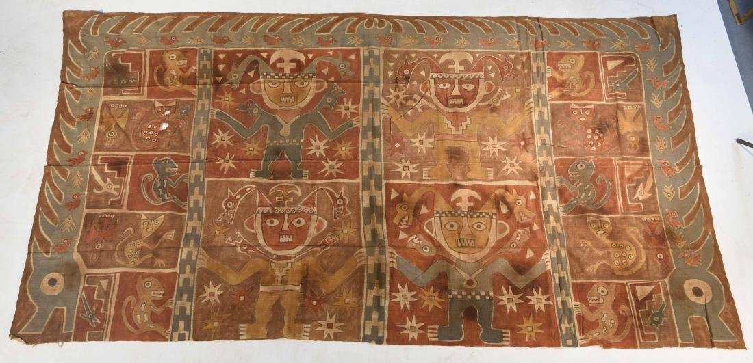 CHANCAY PAINTED TEXTILE PANEL