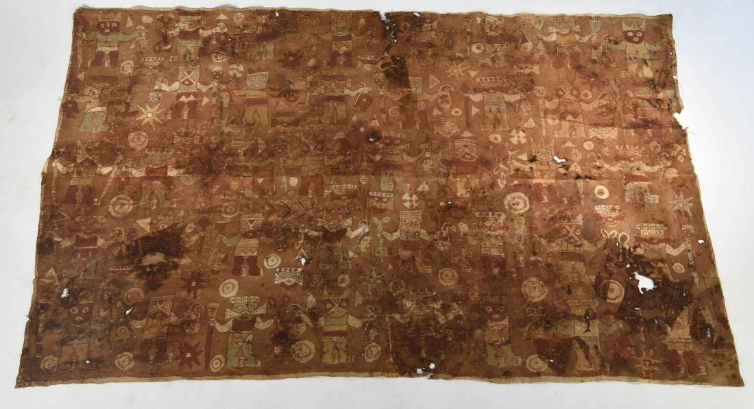LARGE CHANCAY PAINTED TEXTILE PANEL