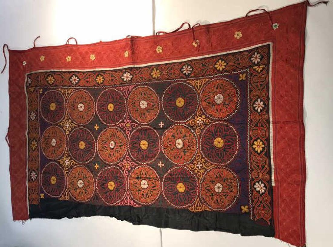 EMBROIDERED SAYMA OR YURT HANGING