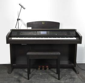 YAMAHA CLAVINOVA PIANO W/ BENCH & LIGHT