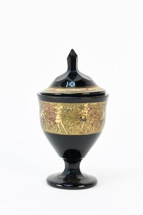 MOSER COVERED GLASS GOBLET