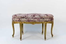 FRENCH LOUIS XV STYLE GILDED BENCH