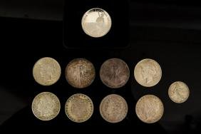 GROUPING OF AMERICAN SILVER COINS