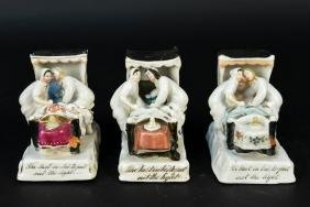 (3) CONTA BOEHME GERMAN LATE 19TH C. FIGURES