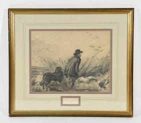 ALICE SMITH DUCK HUNTER 1858 PENCIL DRAWING