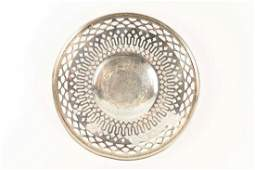 SMALL STERLING PIERCED DISH