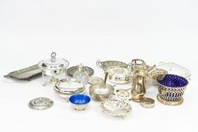 GROUPING OF SILVER PLATE