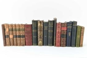 (18) MISC. LEATHERBOUND BOOKS