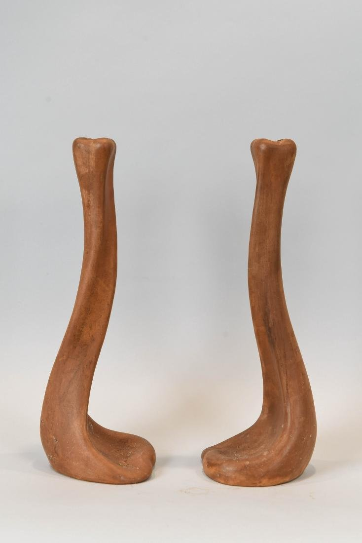 ELSA PERETTI TERRACOTTA CANDLESTICKS FOR TIFFANY