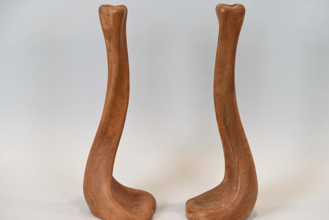 ELSA PERETTI TERRACOTTA CANDLESTICKS FOR TIFFANY - 3