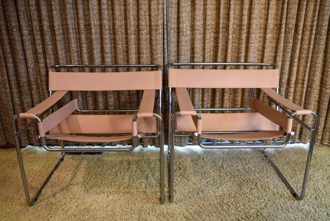 PAIR OF MARCEL BREUER FOR KNOLL WASSILY CHAIRS