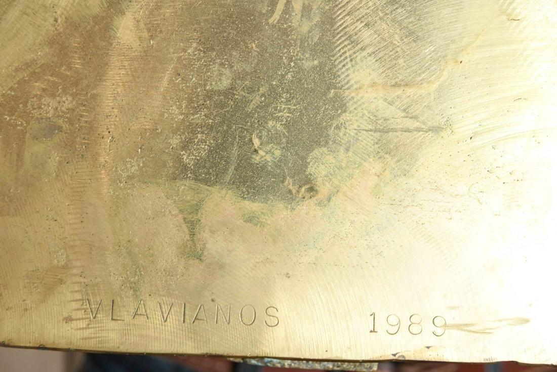VLAVIANOS 1989 BRONZE SCULPTURE - 9