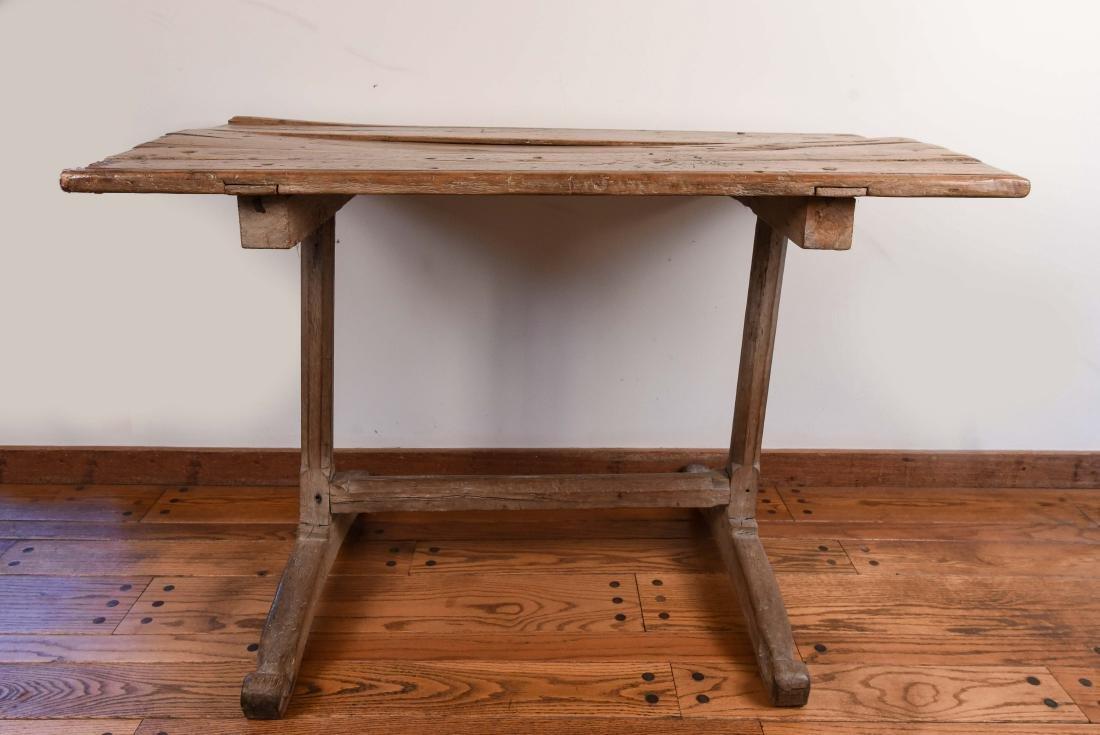 ANTIQUE WOODEN TRESTLE TABLE