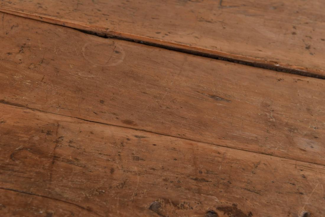ANTIQUE WOODEN TRESTLE TABLE - 3