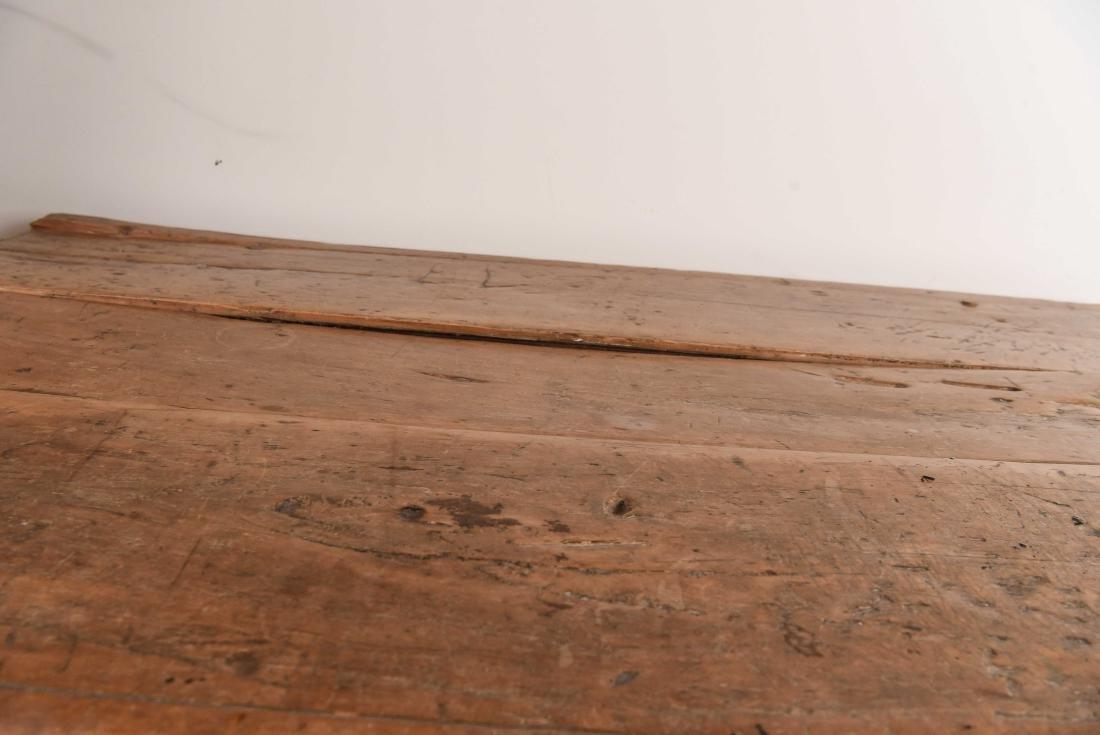ANTIQUE WOODEN TRESTLE TABLE - 9