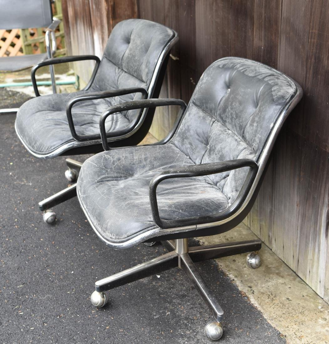 PAIR OF KNOLL POLLACK CHAIRS - 2