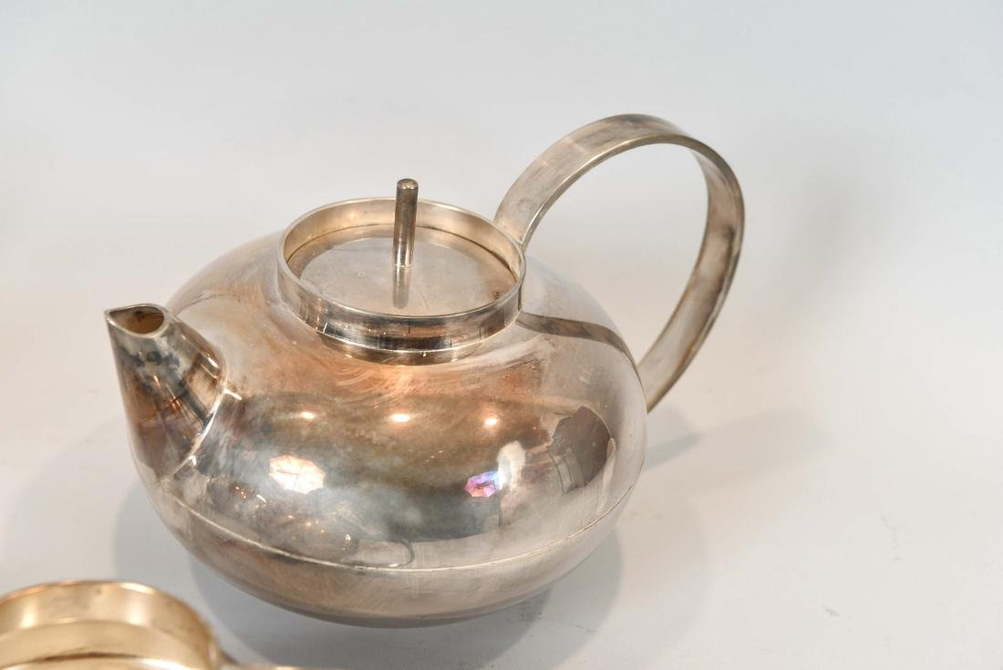 CHRISTOFLE SILVER PLATE TEA SET - 4