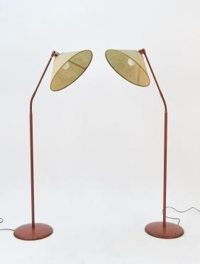 PAIR OF FLOOR LAMPS BY KURT VERSON