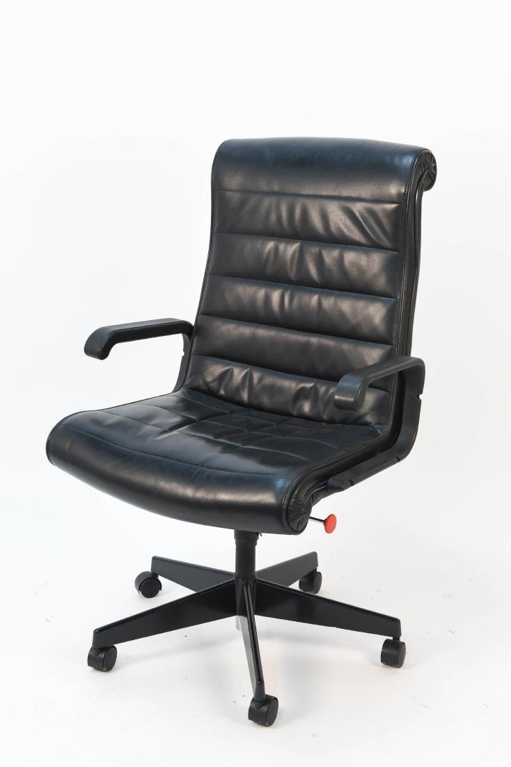 KNOLL LEATHER EXECUTIVE CHAIR BY RICHARD SAPPER