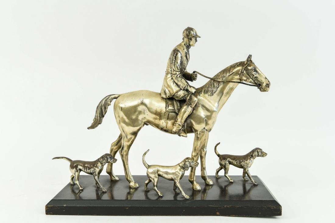 JENNINGS BROTHERS SILVER PLATED HORSE SCULPTURE