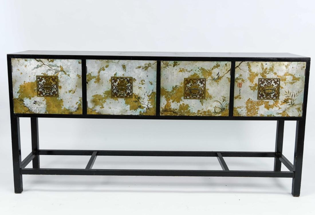 MID-CENTURY CHINOISERIE DECORATED SIDEBOARD