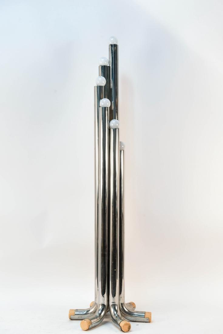 ITALIAN CHROME TUBE FLOOR LAMP