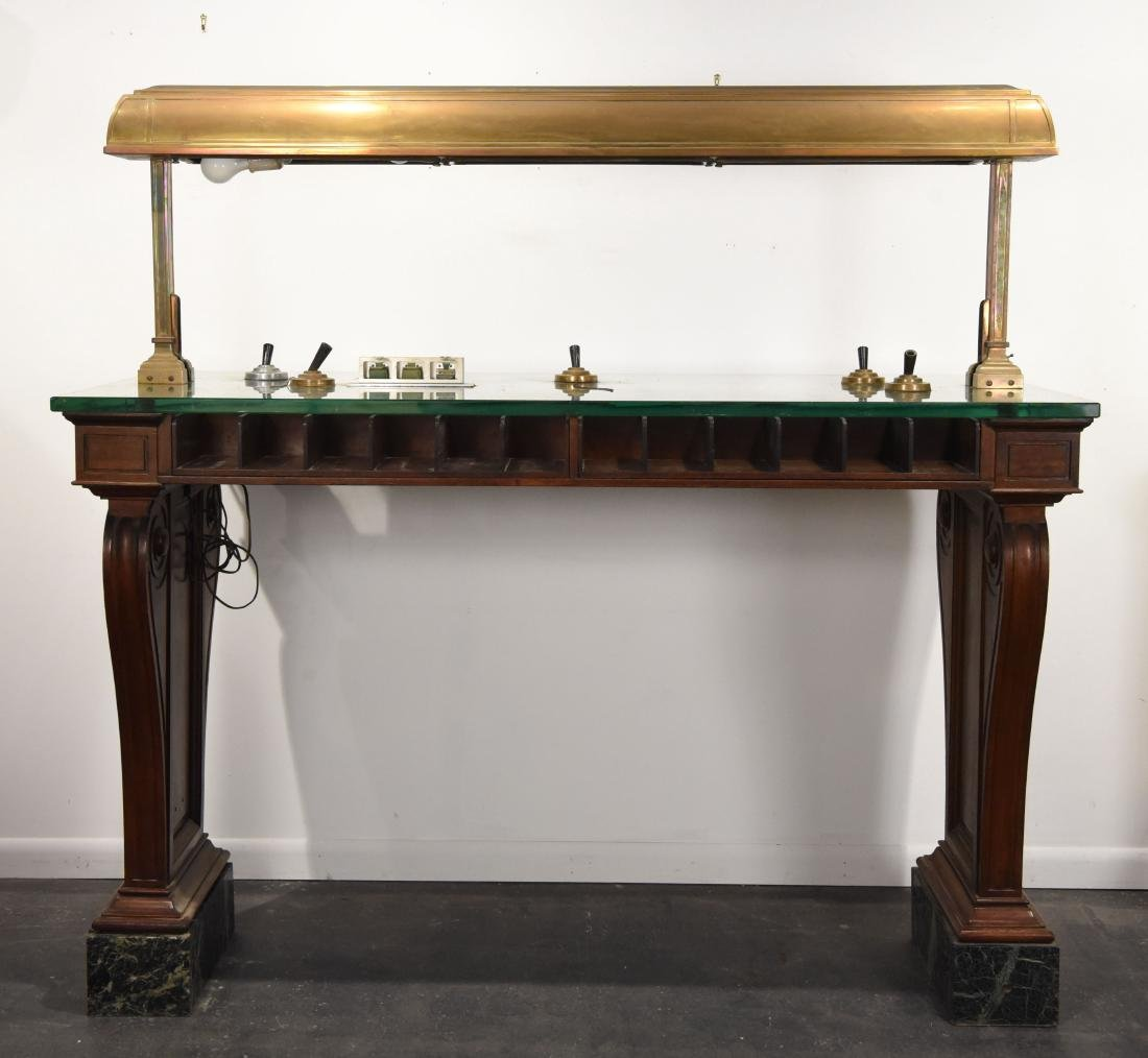NEW YORK ANTIQUE BANK TABLE