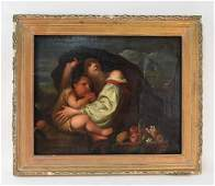 CONTINENTAL SCHOOL OC PAINTING MOTHER AND CHILD